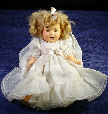 """Antique Shirley Temple Composition Doll Vintage 13"""" Shirley Temple 13"""