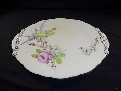 Vintage c1930 PRINCESS MARGARET ROSE  Paragon Handled  Cake Sandwich Plate