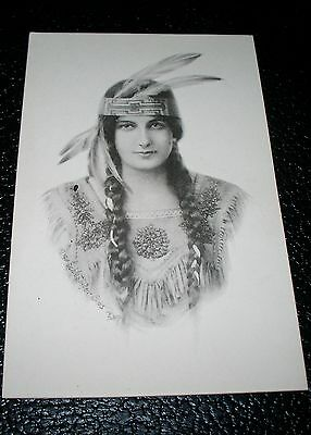 1911  Lovely Schlesinger  Postcard Indian Native American  Rare View