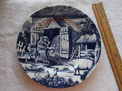 "Country Courtship 10 1/2"" Plate Andrea By Sadek 1995 Colonial Williamsburg"
