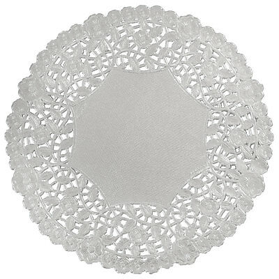"""SILVER FOIL Paper Doilies 