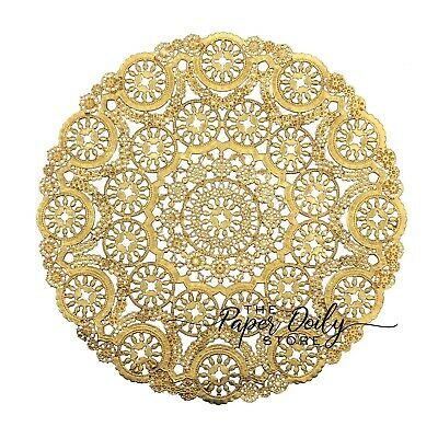 """GOLD FOIL MEDALLION Paper Doilies 