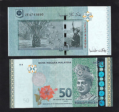 Malaysia 50 Ringgit (2016) Replacement ZE* New Signature MBI P55 -UNC