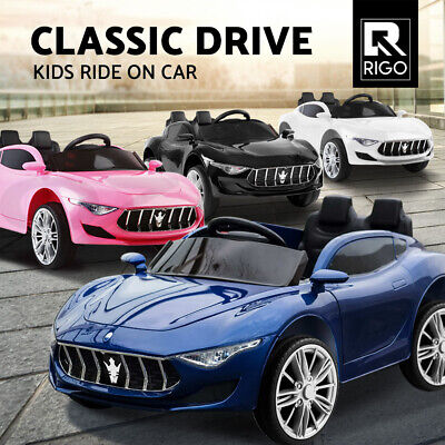 Electric Kid Ride On Car Maserati Inspired Battery Toy Children Remote 12V