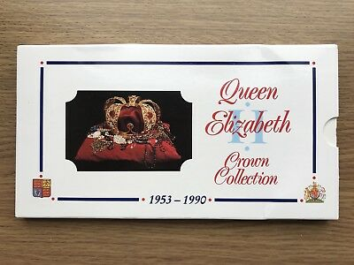 1953 - 1990 Royal Mint Queen Elizabeth Ii Crown Collection - 8 Crowns