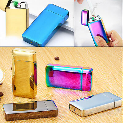 New Windproof  Cigar Auto Ignite Double Arc Induction Lighter Electric Charging