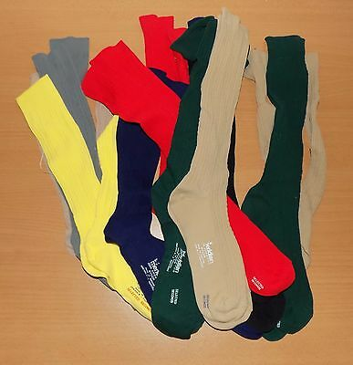 12 x VINTAGE 1970's UNWORN GIRLS ASSORTED MERIDIAN NYLON SCHOOL SOCKS SHOE 4-7