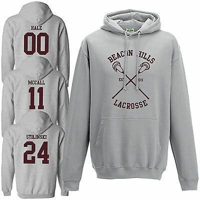Beacon Hills Lacrosse Hoodie - Teen Wolf Stilinski McCall Heather Grey Hoody Top