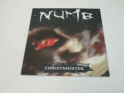 Numb - Christmeister - Lp 1989 Lively Art Records - Original Inner - Ex+/ex- Ebm