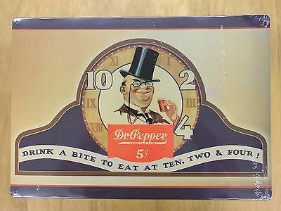 Dr Pepper Drink a bite to eat Blechschild Flach Neu aus USA 30x42cm S1804
