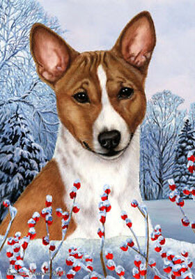 Garden Indoor/Outdoor Winter Flag - Basenji 151721