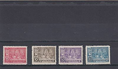 a112 - GUATEMALA - SG454-457 MNH 1946 125th ANNIV OF INDEPENDENCE