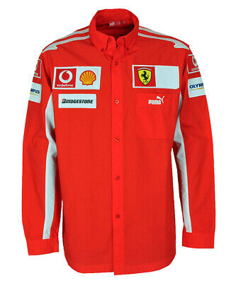 Puma SF Scuderia Ferrari F1 Hemd Team Shirt rot langarm Gr XL Badges Patches