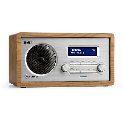 Kompakt Digitalradio Küchenradio Retro DAB+ Radio Wecker UKW Tuner LCD Display