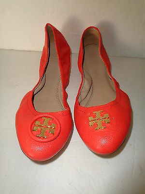 $250 Tory Burch Allie Leather Ballet Flats Size 9