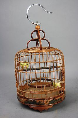 20th C. Fine Chinese Bamboo Bird Cage