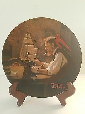Vgt. Norman Rockwell Collectors Plate 1980 The Ship Builder