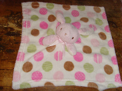 Polka dot bunny GUC Blankets and Beyond girls baby nursery lovey lovie rabbit