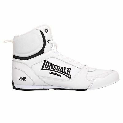 Lonsdale Contender Mens Low Boxing Boots Black//White Gym Sneakers Shoes NEW