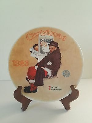 """Vgt. Norman Rockwell Collectors Plate 1983 """"santa In The Subway"""""""