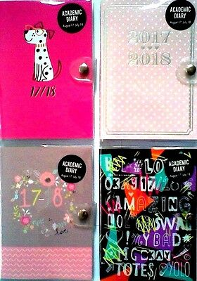 A6 2017-2018 Academic Mid Year  Pocket Diary/Planner