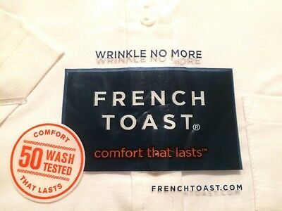 French Toast White Short Sleeve Oxford Blouse With Darts Girl's Uniform NEW 14