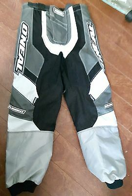 NWOT O'neal Elements Racing mortocross Pants 5T 6T grey black kevlar padded
