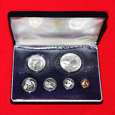 British Virgin Islands 1973 First Official Coinage Proof Set+Box+.925 Silver Dol