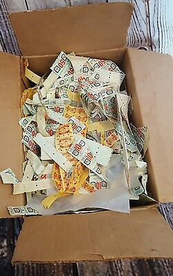 HUGE box of vintage S&H stamps and Top Value stamps as-is
