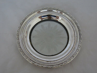 Frank Whiting Sterling & Crystal Large Bottle Coaster