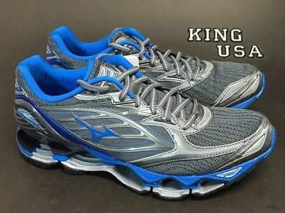Men's Mizuno Wave Prophecy 6 Running Athletic Shoes Griffin Director Grey Blue