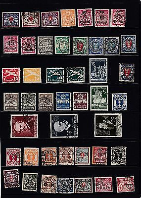 Danzig,2 Pages Of Old Stamps,used.