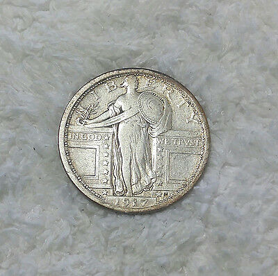 1917 Type 1 Standing Liberty Quarter - full date  - Free Shipping