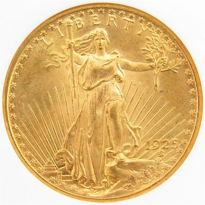 1925 $20 Gold St. Gaudens Double Eagle - PCGS MS65 - Certified & Graded Stunner