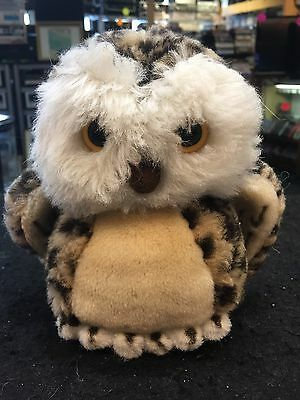STEIFF 072109 Wittie Young Owl Germany W/ Button Tag