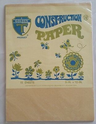 Vintage TG&Y Store Golden T Construction Paper Sealed