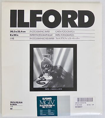 Ilford MGIV Multigrade IV RC Deluxe 8x10 B&W Pearl Photographic Paper 25 SEALED+