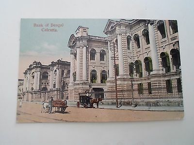 OLD Postcard Bank of Bengal CALCUTTA  Sent to 4th Worcester Regt India   §D221