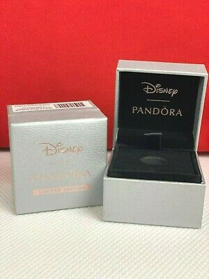 Rare Pandora Silver Disney Limited Edition Bead Box w/ Pink Logo (Box Only)
