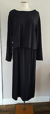HOLTE - Size 3 - Designer Black Cotton Knit Two Piece Top/Skirt Lagenlook Outfit