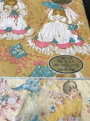 Vintage American Greetings Wedding & Baby Shower Gift Wrapping Paper