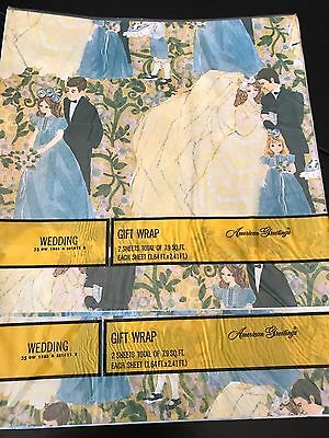 Vintage American Greetings Wedding Gift Wrapping Paper