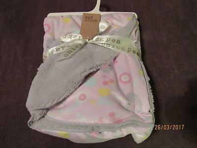 "NWT Chick Pea Girl Pink Elephant Plush 30""x40"" Throw Blanket ~ Super Soft~"