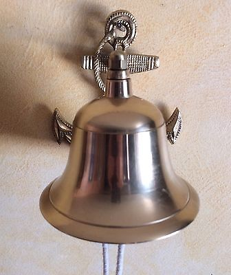 Heavy Brass NAUTICAL Ship Bell Anchor Ringer Boat Home Decor Solid