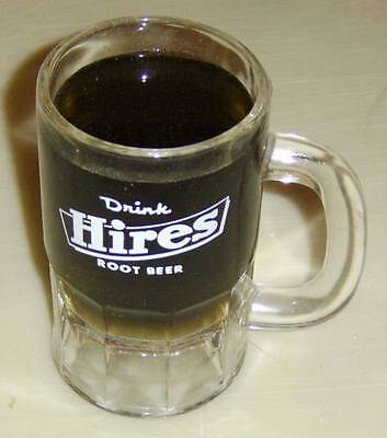 Hres Root Beer Clear Glass Mug - small with white logo