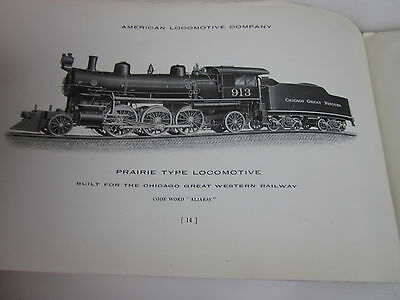 Vintage 1910 Locomotive Railroad Catalog Prarie Type American RR Steam Engine
