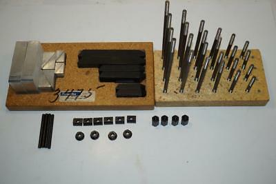 RARE NOS EMCO Maximat V10p Lathe Milling Machine  60pcs Clamp Block Set
