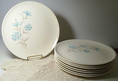 "Taylor Smith & Taylor Ever Yours Boutonniere 8 Vintage 10 1/4"" Dinner Plates"