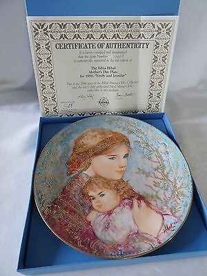 Knowles EDNA HIBEL Mother's Day Plate 1986 EMILY AND JENNIFER