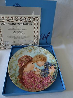 Knowles EDNA HIBEL Mother's Day Plate 1988 SARAH AND TESS
